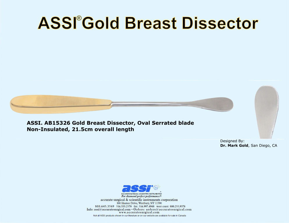 ASSI Gold Breast Dissector