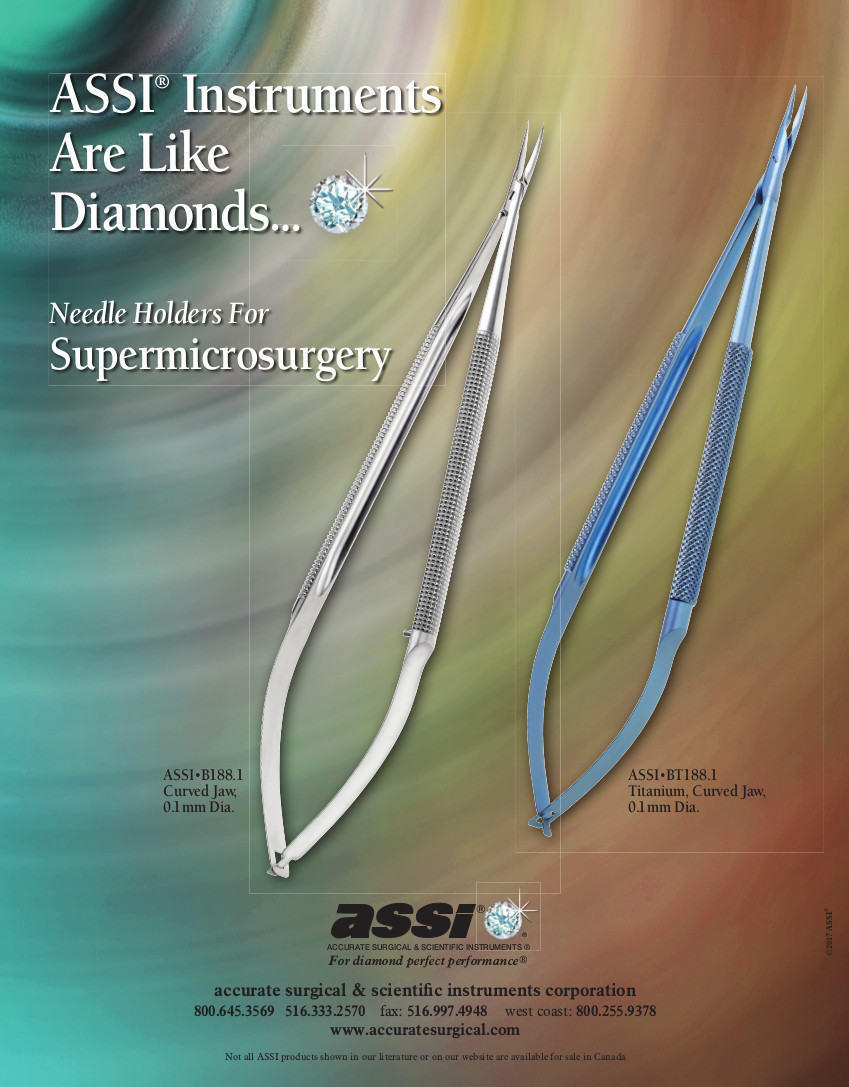 ASSI Needle Holders for Supermicrosurgery