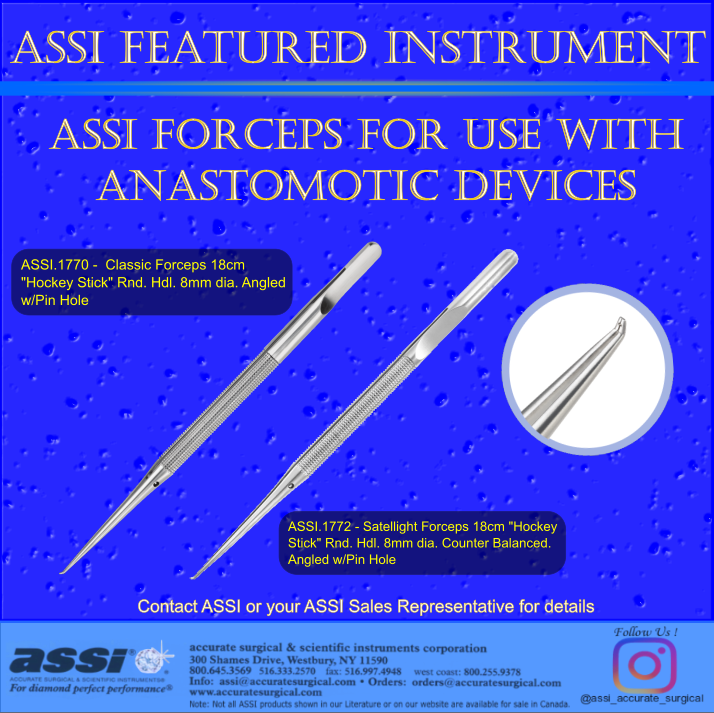 forceps for anastomotic devices 1